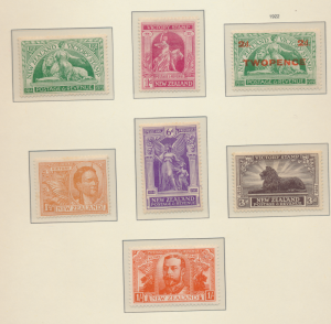 New Zealand Stamps Scott #165 To 170 And #174 Overprint, Mint Hinged - Free U...