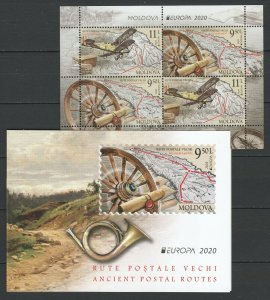 Moldawien 2020 CEPT Europa postfrische Booklet