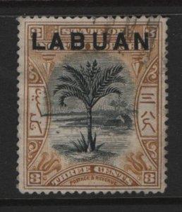 LABUAN, 75, USED, 1897-1900, SAGO PALM