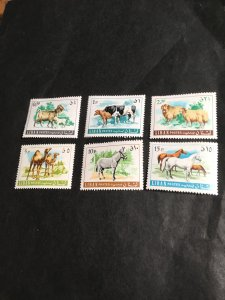 Lebanon #453-8 Complete Mint VF-NH 2015 Sc. Cat $34.00 1968 Animals Set of Six