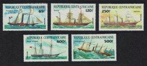 Central African Rep. Transport Ships 5v SG#1012-1016