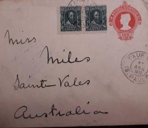 O) 1913 BRAZIL, PEDRO ALVARES CABRAL - SC 176, LIBERTY HEAD, TO AUSTRALIA,