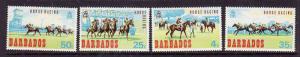 Barbados-Sc#312-15-unused NH set-Horse Racing-Animals-1969-