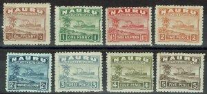 NAURU 1924 SHIP 1/2D - 5D ROUGH PAPER