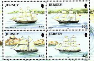 Jersey 596-99 MNH 1992 ships (in S/S which has light wrinkle)