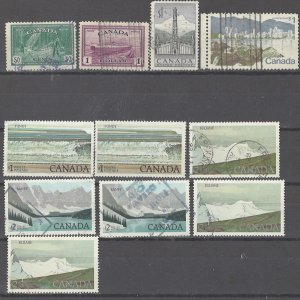 COLLECTION LOT # 2471 CANADA 11 HIGH FAVE VALUE STAMPS 1946+ CV+$13