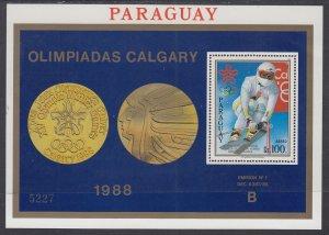 Paraguay C749 Winter Olympics Olympics Souvenir Sheet MNH VF