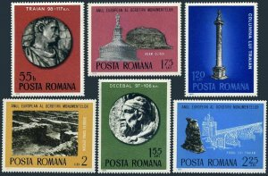 Romania 2563-2568,2569,MNH. European Architectural Heritage.Roman Monuments,1975