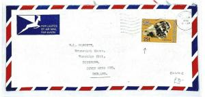 BOTSWANA Gaborone GB Devon Airmail Cover Scarce 25t 1978 {samwells-covers} CW299