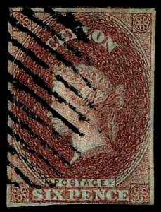 1857 Ceylon #2 Queen Victoria Watermark 6 - Used - VF - CV$525.00  (ESP#3540)