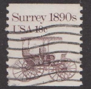 US #1907 Surrey Used PNC Single plate #1