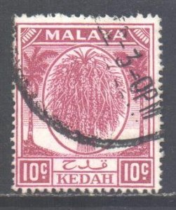 Malaya Kedah Scott 69 - SG82, 1950 Sheaf of Rice 10c used