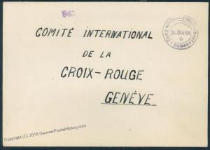 Switzerland WWII Internee Camp St Blaise Prisoner Cover Censored 53830