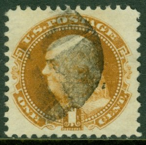 EDW1949SELL : USA 1869 Sc #112 XF, Used Beautiful stamp PSAG Graded 85 SMQI 275