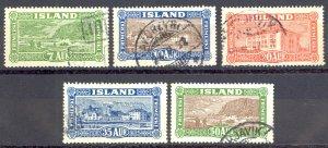 Iceland Sc# 144-148 Used 1925 Views