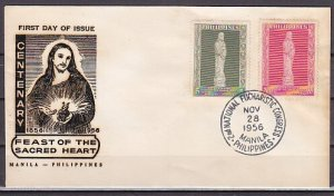 Philippines, Scott cat. 632-633. Statue of Christ issue. First day cover. ^