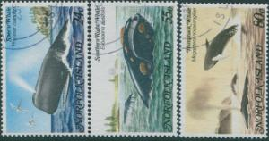Norfolk Island 1982 SG284-286 Whales set FU