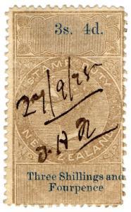 (I.B) New Zealand Revenue : Stamp Duty 3/4d (reversed & inverted watermark)