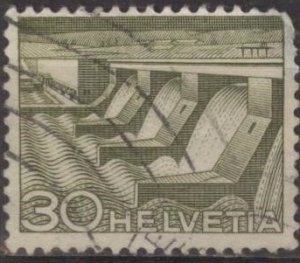 Switzerland 334 (used) 30c dam & power station (1949)