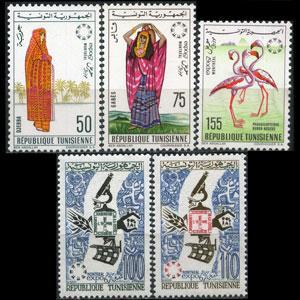 TUNISIA 1967 - Scott# 470-4 Montreal Expo. Set of 5 LH