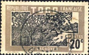 TOGO - 1930 - CACHET À DATE DE SOKODE SUR 20c CACAOYER (Yv.130)