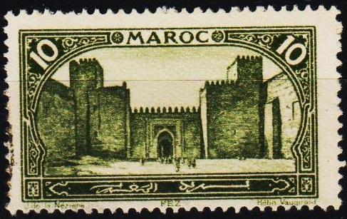 Morocco(French). 1917 10c S.G.127 Fine Used