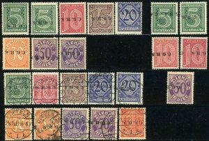 Upper SILESIA Plebiscite Sc# O32-O38 Mi# 1-7 Official Stamps Inverted Overprint