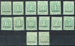 AUSTRALIA 1902 POSTAGE DUE SPECIMEN SET WMK CROWN/NSW