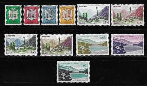 Andorra, French 143-53 Arms and Views set MNH (BB)
