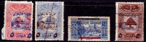 Lebanon-#RA5,RA6,RA9,95-FU-Postal Tax stamps-Blue stamp has thinning - CV$15.50