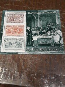 1992 Columbian S/ Sheet MNH Full set 1c to $5