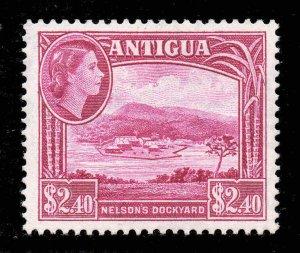 Antigua 1953 QEII $2.40 Nelson's Dockyard SG 133 mint