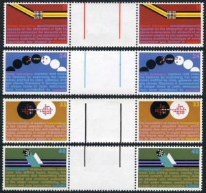 Australia 563-566-569-571 gutter,MNH.Michel 579-582. Sciences,1975.Astronomy,