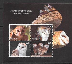BIRDS - NIUAFO'OU #CE5  BARN OWLS  MNH