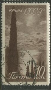 Russia - Scott 667 - Scenic Crimea -1938 - FU - Single 10k Stamp