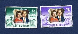 SOUTH GEORGIA   - # 35-36 - VFMNH - Silver Wedding -