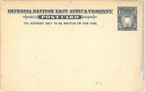 LIONS - POSTAL STATIONERY: BRITISH EAST AFRICA - H&G #2