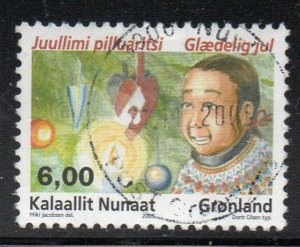 Greenland Sc 466 2005 6.0 kr Christmas stamp used