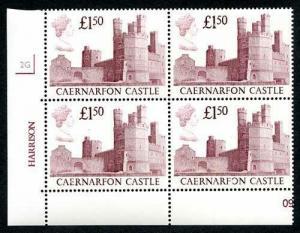 SG1411 1988 One Pound Fifty Castle (Plum) Glazed Paper Plate 2G U/M