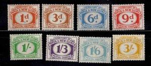 PNG Papua New Guinea Scott J7-J14 MNH** postage due set 1960