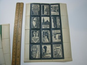1916 Spain Madrid Toledo 12 Poster Stamps Sheet Athiests Travel Tour - See Desc