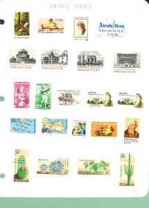 US Group of Stamps (Mixed Condition)