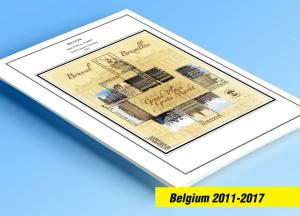 COLOR PRINTED BELGIUM 2011-2017 STAMP ALBUM PAGES (97 illustrated pages)