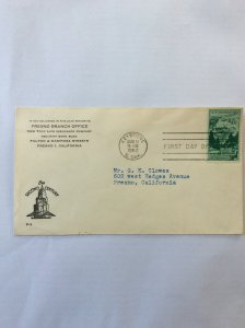 1952 Mount Rushmore 3c First day cover. Keystone SD post mark to Fresno.