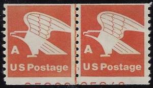 1743 - Miscut Error / EFO PNC Line Pair W/ 2 Partial Pl#'s Eagle Mint NH