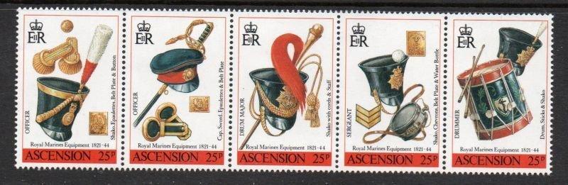 Ascension Sc 482 1990 Royal Marines Equipment stamp set mint NH