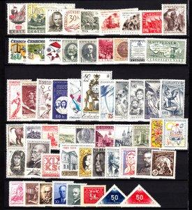 Czechoslovakia 57 different mint