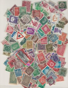 COLLECTION LOT # L5 GERMANY 156gr ABOUT 2300 STAMPS FREE H & S