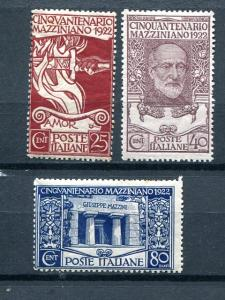 Italy #140-42  Mint NH F-VF  $145- Lakeshore Philatelics