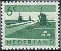 Netherlands # 401 mnh ~ 6¢ Windmills